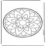 Cartões de picotar - Cartão de picotar mandala 3
