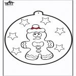 Natal - Cartão de picotar - Pão de mel 1