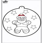 Natal - Cartão de picotar - Pão de mel 2