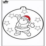 Natal - Cartão de picotar - Papai Noel