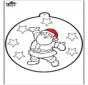 Cartão de picotar - Papai Noel