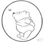 Cartão de picotar Pooh 3