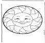 Cartão de picotar sol 36
