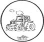 Cartão de picotar tractor