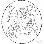 Natal - Cartão de picotar - ucha