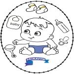 Tema - Cartão de Recortar Bebé 2
