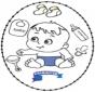 Cartão de Recortar Bebé 2