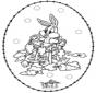 Cartão de recortar coelho