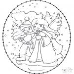 Natal - Cartão de recortar de Natal 12