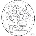 Natal - Cartão de recortar de Natal 16
