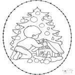 Natal - Cartão de recortar de Natal 20