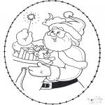 Natal - Cartão de recortar de Natal 22