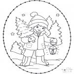 Natal - Cartão de recortar de Natal 23