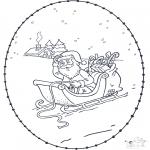 Natal - Cartão de recortar de Natal 5