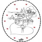 Tema - Cartão de recortar de S. Valentim