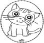Cartão de recortar - gato