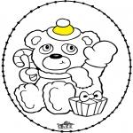 Natal - Cartão de recortar - Urso do natal