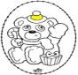 Cartão de recortar - Urso do natal