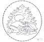 Cartão de recotar de árvore de Natal