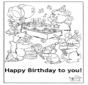 Cartão feliz aniversário 5