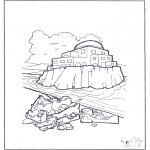 Pinturas bibel - Casa de pedra e areia