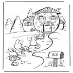 Tema - Casa do coelho de Páscoa
