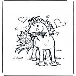 Animais - Cavalo com flores