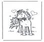 Cavalo com flores
