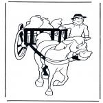 Animais - Cavalo e vagão