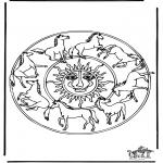 Pinturas Mandala - Cavalos Mandala 1