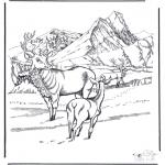 Animais - Cervos na neve