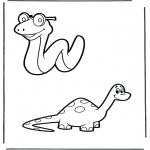 Animais - Cobra e dinossauro