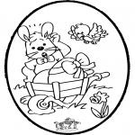 Tema - Coelhinho da Páscoa - Cartão de picotar 1