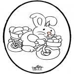 Tema - Coelhinho da Páscoa - Cartão de picotar 2