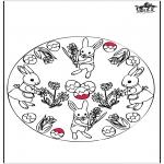 Tema - Coelhinho da Páscoa - Cartão de picotar 3