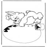 Tema - Coelho com ovo de Páscoa