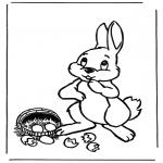 Tema - Coelho de Páscoa com ovos 1