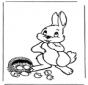 Coelho de Páscoa com ovos 1