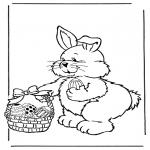 Tema - Coelho de Páscoa com ovos 2