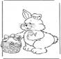 Coelho de Páscoa com ovos 2
