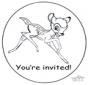 Convite Bambi
