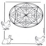Pinturas Mandala - Corações mandalas 1