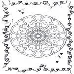 Pinturas Mandala - Corações mandalas 3