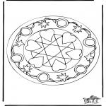 Pinturas Mandala - Corações mandalas 5