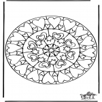 Pinturas Mandala - Corações mandalas 6