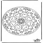 Pinturas Mandala - Corações mandalas 7
