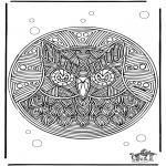 Pinturas Mandala - Coruja mandala