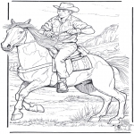 Animais - Cowboy com cavalo