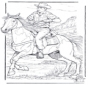 Cowboy com cavalo