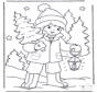 Criança com árvore de Natal 1